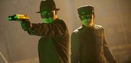 Seth Rogen , left, and Jay Chou in Columbia Pictures' THE GREEN HORNET.