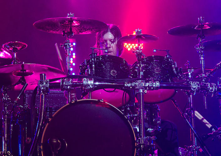 Scott Phillips (bateria) do Creed no Citibank Hall, Rio - 23/11/2012