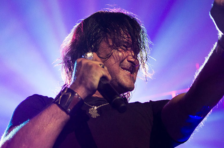 Scott Stapp (vocal) do Creed no Citibank Hall, Rio - 23/11/2012