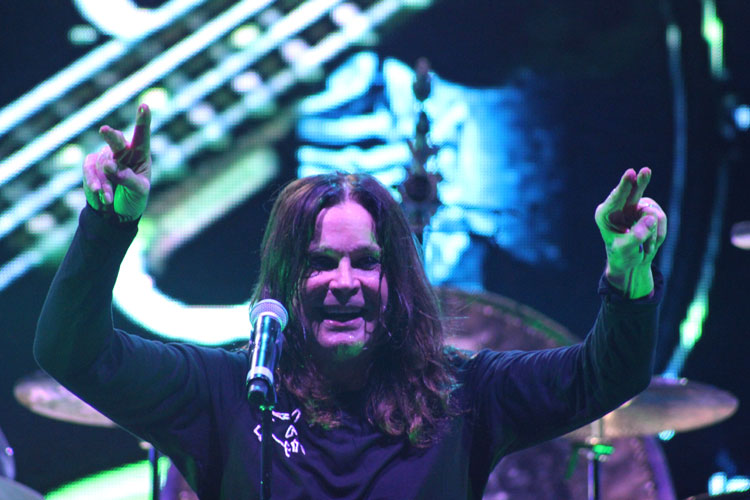 Ozzy Osbourne (vocal) do Black Sabbath na Praça da Apoteose, Rio - 13/10/2013